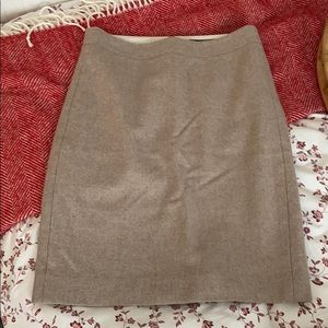 J. Crew woman oatmeal wool pencil skirt
